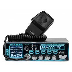 SR-655HPC with blue color display and front microphone connector for easy mounting
