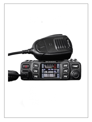 Stryker 94HPC with Clip Pin Microphone placed on top of the radio.